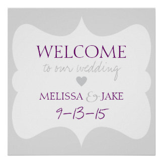 WELCOME TO OUR WEDDING | CUSTOM POSTER
