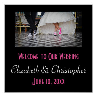 Welcome to our wedding Fifties Retro Diner Theme Poster