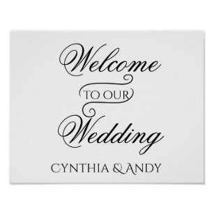 Welcome To Our Wedding Posters & Photo Prints | Zazzle