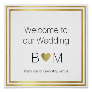Welcome To Our Wedding Reception Love Poster