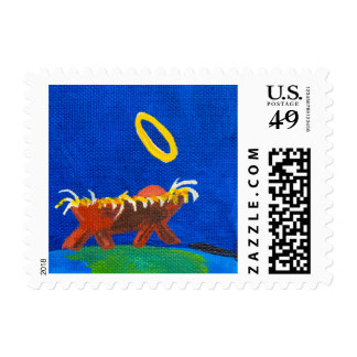 """""""Welcome To Our World"""" by Chris Rice Postage Stamp"""