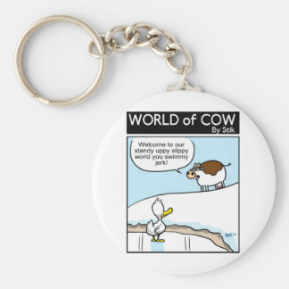Welcome to our world! keychain