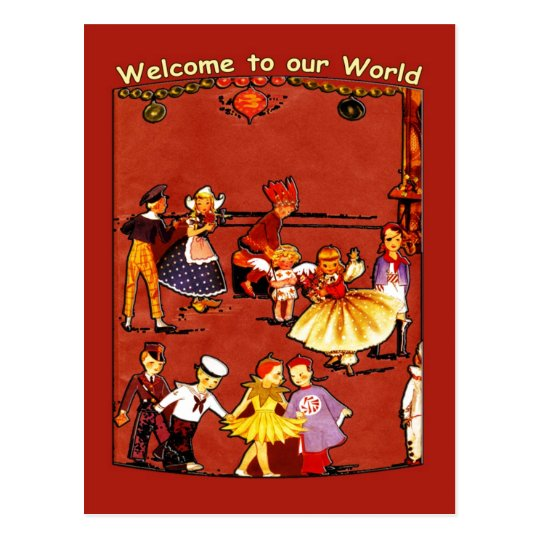 Welcome to Our World Postcard
