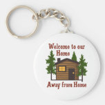 Welcome To Out Home Away From Home Basic Round Button Keychain