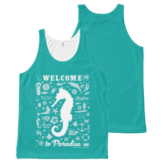 Welcome to Paradise All-Over Print Tank Top