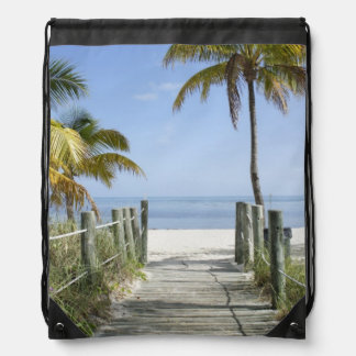 Welcome to Paradise Drawstring Backpack