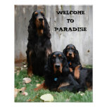 WELCOME TO PARADISE Gordon Setter Canvas Print