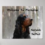 Welcome To Paradise Gordon Setter Canvas Print
