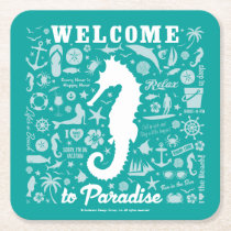 Welcome to Paradise Square Paper Coaster