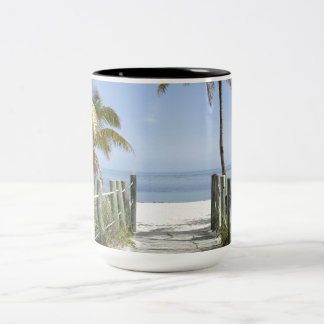 Welcome to Paradise Two-Tone Coffee Mug