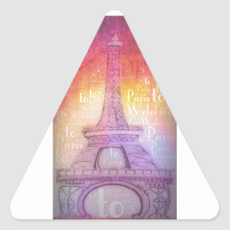 Welcome to Paris Triangle Stickers