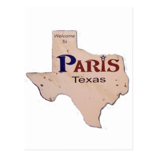 Welcome to Paris, Texas Postcard