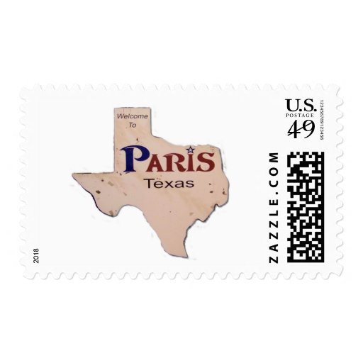 Welcome to Paris, Texas Stamp