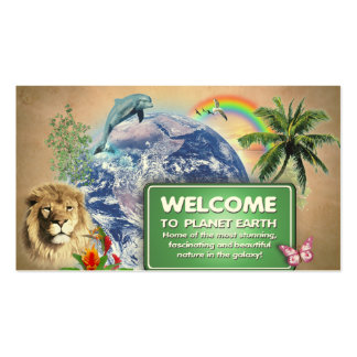 Welcome to Planet Earth Business Card