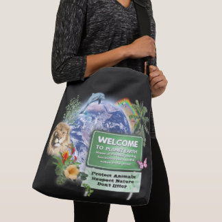 Welcome to Planet Earth Crossbody Bag