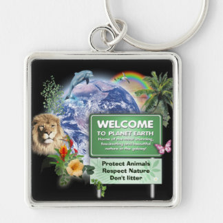 Welcome to Planet Earth Keychain