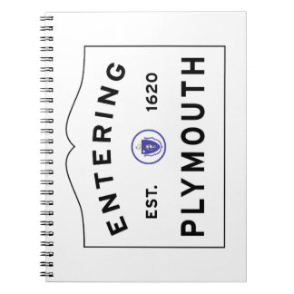 Welcome to Plymouth MA town sign Notebook