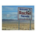 Welcome To Rachel Nevada Postcard - Area 51