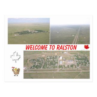 Welcome to Ralston, Alberta [Canada] Postcard