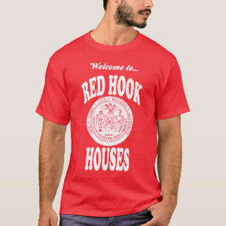 Welcome to Red Hook Houses - White Print T-Shirt
