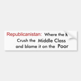 Welcome to Republicanistan Car Bumper Sticker
