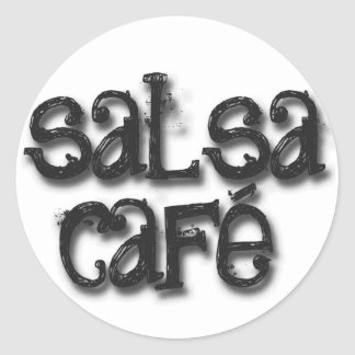 Welcome to Salsa Cafe Classic Round Sticker