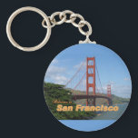 "Welcome to San Francisco - Golden Gate Bridge Keychain<br><div class=""desc"">Digital photograph of the Golden Gate Bridge in San Francisco,  California. 