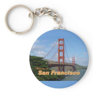 Welcome to San Francisco - Golden Gate Bridge Keychain