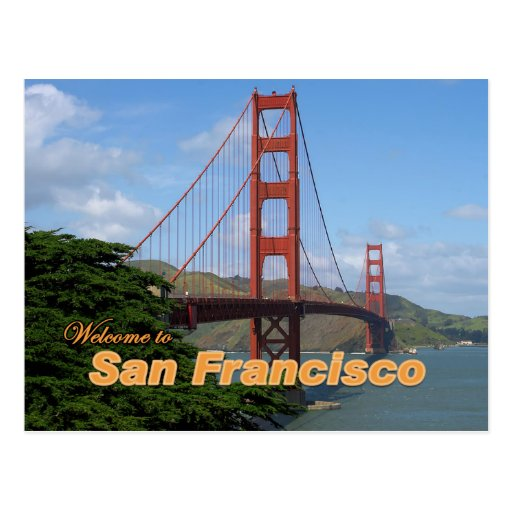 Welcome To San Francisco Golden Gate Bridge Postcard