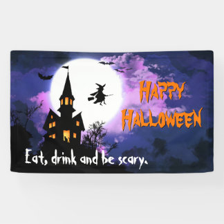 Welcome to Scary Haunted House - Happy Halloween Banner