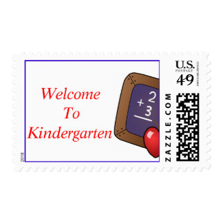 WELCOME TO SCHOOL TEACHERS POSTAGE STAMPS