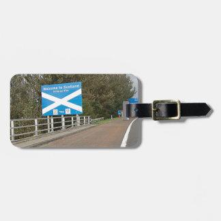 Welcome to Scotland - Anglo-Scottish Border Sign Bag Tag