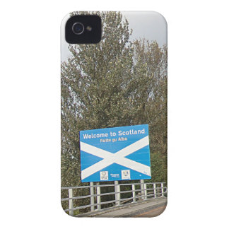 Welcome to Scotland - Anglo-Scottish Border Sign Case-Mate iPhone 4 Case