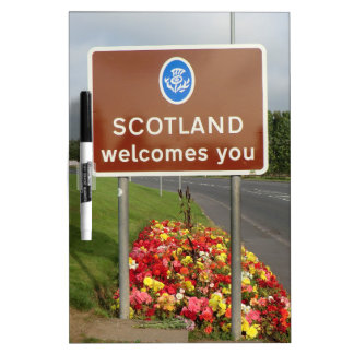 Welcome to Scotland - Anglo-Scottish Border Sign Dry-Erase Boards