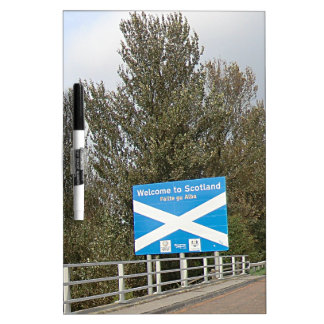 Welcome to Scotland - Anglo-Scottish Border Sign Dry-Erase Board
