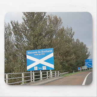 Welcome to Scotland - Anglo-Scottish Border Sign Mouse Pad