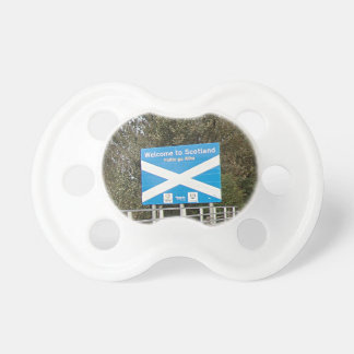 Welcome to Scotland - Anglo-Scottish Border Sign Pacifiers