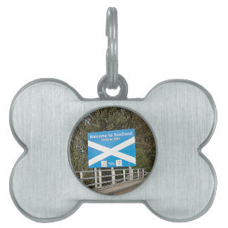 Welcome to Scotland - Anglo-Scottish Border Sign Pet Tag