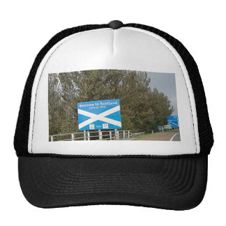 Welcome to Scotland - Anglo-Scottish Border Sign Trucker Hat