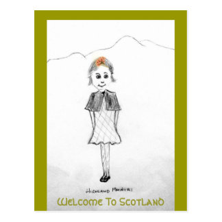 Welcome To Scotland Postcard