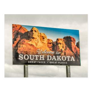 Welcome to South Dakota Sign Postcard