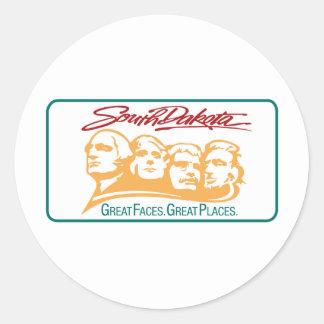 Welcome to South Dakota - USA Road Sign Classic Round Sticker
