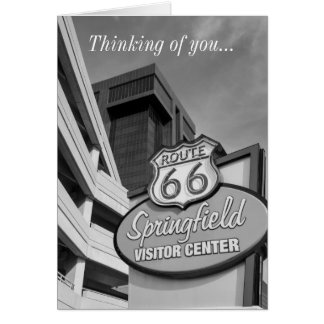 Welcome To Springfield Grayscale Card