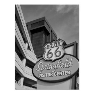 Welcome To Springfield Grayscale Poster