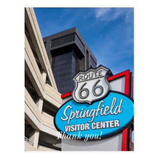 Welcome To Springfield Postcard
