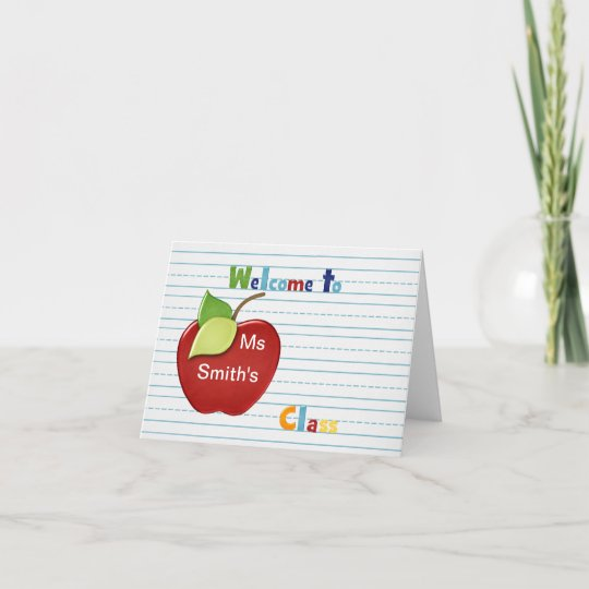 Welcome to student from teacher Card