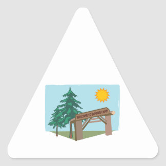 Welcome To Summer Camp! Triangle Stickers