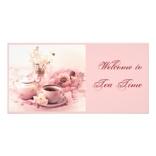 Welcome to Tea Time... Customized Photo Card