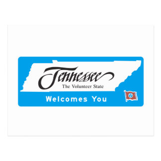 Welcome to Tennessee - USA Road Sign Postcard