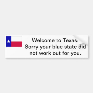 Welcome to Texas bumper sticker